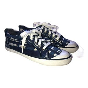 Coach Barrett Blue White Canvas Lace up Sneakers 7